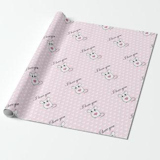 Niedliche Maus - Valentinstag Geschenkpapier