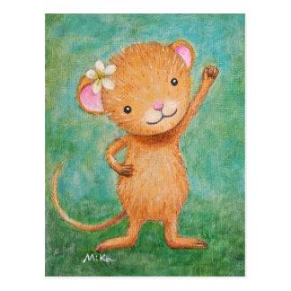 Niedliche Mäusepostkarten-heftige Postkarte