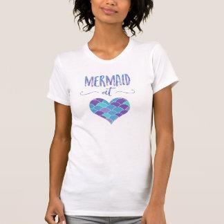 Niedliche Meerjungfrau am T - Shirt der
