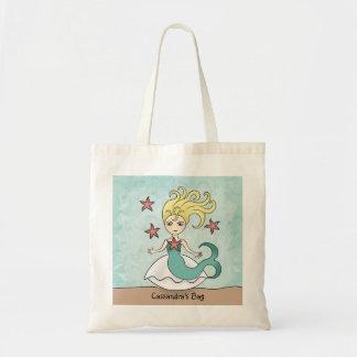Niedliche Meerjungfrau Budget Stoffbeutel