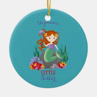 Niedliche Meerjungfrau-kleine Schwester Keramik Ornament