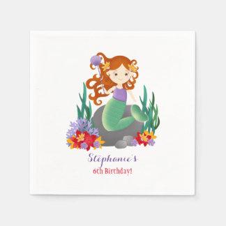 Niedliche Meerjungfrau Papierserviette