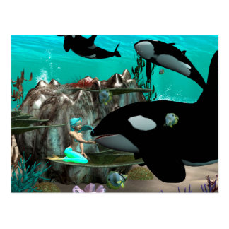 Niedliche Meerjungfrau Postkarte