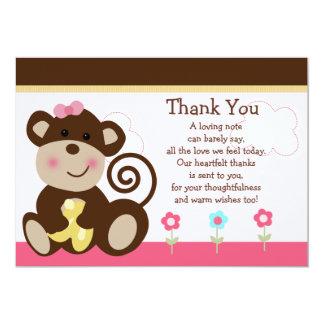 Niedliche Melanie-Affe-Baby-Dusche danken Ihnen zu 12,7 X 17,8 Cm Einladungskarte
