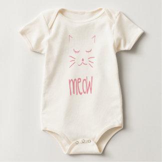 Niedliche MEOW spät Kinder Baby Strampler