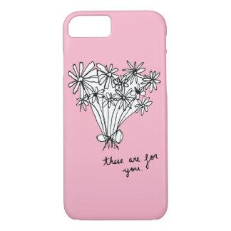 """Niedliche minimale Skizze-Blumen """"diese sind für iPhone 8/7 Hülle"""