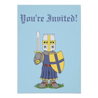 Niedliche mittelalterliche Ritter-Einladungen 12,7 X 17,8 Cm Einladungskarte