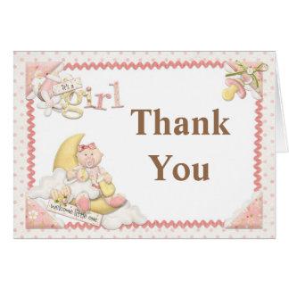 Niedliche Mond-Baby-Dusche danken Ihnen Karte