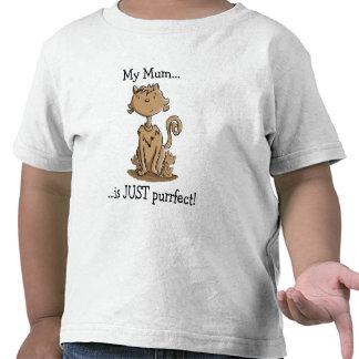 Niedliche Mutter-Katze T Shirts