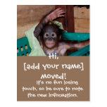 Niedliche neue Zuhause-Adressenänderung Postkarte