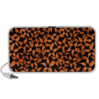 Niedliche orange Blumengekritzel-Lautsprecher iPod Lautsprecher