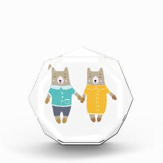Niedliche Paare der glücklichen Bären Auszeichnung