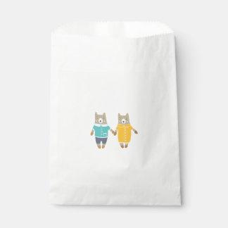 Niedliche Paare der glücklichen Bären Geschenktütchen