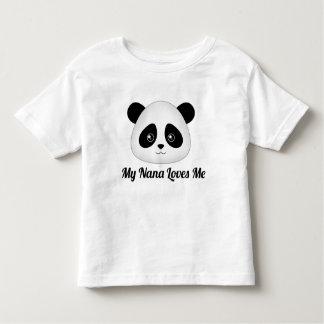 Niedliche Panda-Bär Kawaii Cartoon-Gesichts-Tiere Kleinkind T-shirt