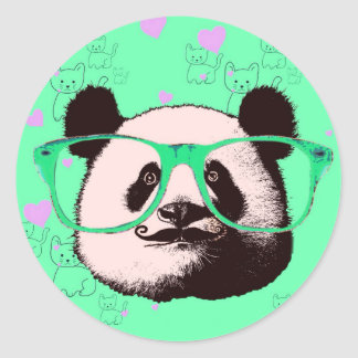 Niedliche Panda-Bärn-Girly Geschenke Kawaii Runder Aufkleber