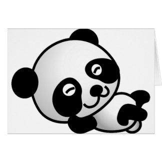 Niedliche Panda-Karte Karte