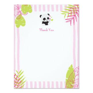 Niedliche Panda-Mädchen-Baby-Dusche danken Ihnen 10,8 X 14 Cm Einladungskarte