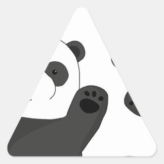 Niedliche Pandas Dreieckiger Aufkleber