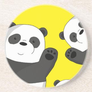 Niedliche Pandas Getränkeuntersetzer