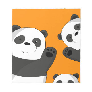 Niedliche Pandas Notizblock