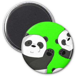 Niedliche Pandas Runder Magnet 5,1 Cm