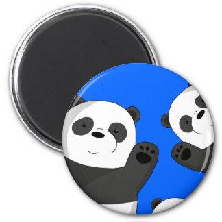 Niedliche Pandas Runder Magnet 5,7 Cm