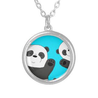Niedliche Pandas Versilberte Kette