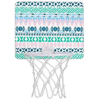 Niedliche Pastellnavajokunstmuster Mini Basketball Ring