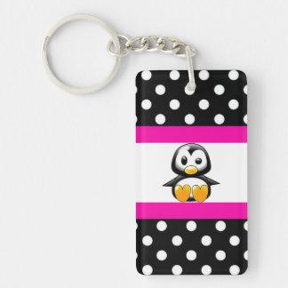 Niedliche Penguin-u. Polka-Punkte Schlüsselanhänger