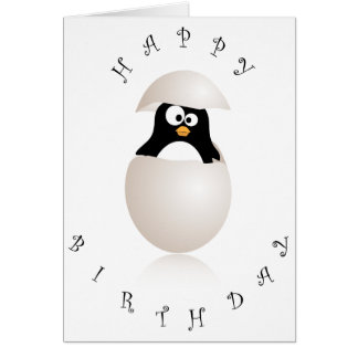 Niedliche Penguingeburtstagskarte Grußkarte
