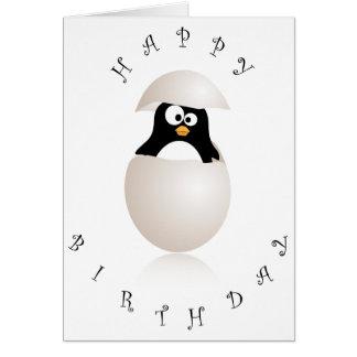 Niedliche Penguingeburtstagskarte Karte