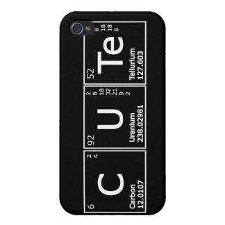 Niedliche periodische Element-Girly Nerd-Chemie iP iPhone 4 Case