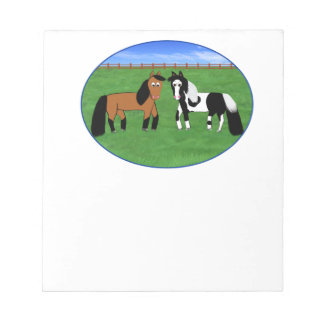 Niedliche Pferde Notizblock
