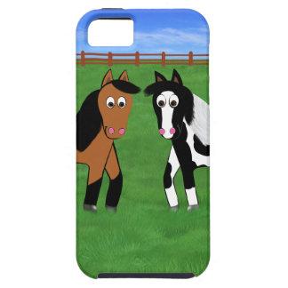 Niedliche Pferde Tough iPhone 5 Hülle