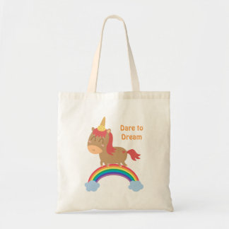 Niedliche Pferdeträume, zum Unicorn-Spaß zu sein- Budget Stoffbeutel