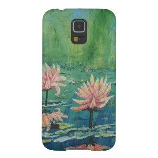 Niedliche Pfirsich-Lilien kundenspezifisches Galaxy S5 Cover