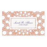 Niedliche Pfirsich-Schönheits-Geschäfts-Karten Visitenkarten Vorlage