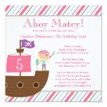 Niedliche Piraten-Geburtstags-Party Einladung des