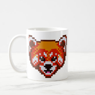 Niedliche Pixel-Kunst-roter Panda Kaffeetasse