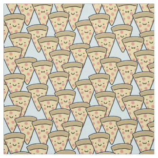 Niedliche Pizza-Freund-Scheiben - hellblau Stoff
