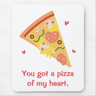 Niedliche Pizza meines Herz-Wortspiel-Liebe-Spaßes Mauspad