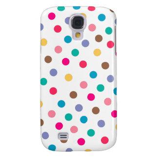 Niedliche Polka-Punkt-Muster-Geschenk-weißes rosa Galaxy S4 Hülle