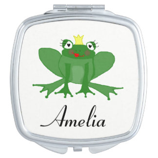 Niedliche Prinzessin Frog Compact Mirror Taschenspiegel