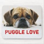 Niedliche Puggle Liebe Mousepad