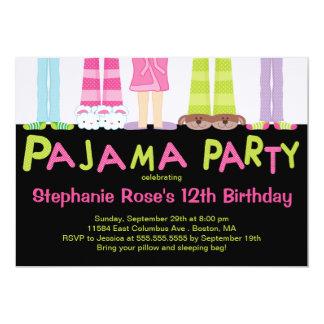 Niedliche Pyjama-Party-Geburtstags-Party Individuelle Einladung