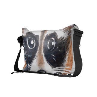 Niedliche Raccoonwatercolor-Kunst Kurier Tasche
