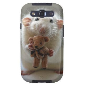 Niedliche Ratte, die Teddy hält Galaxy SIII Hülle