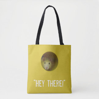 Niedliche Ratte im Loch-lustigen Tier Tasche