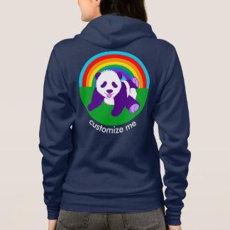 Niedliche Regenbogen-Panda-Bärn-Gewohnheit Hoodie