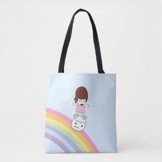 Niedliche Regenbogen-u. Eibisch-Taschen-Tasche des Tasche